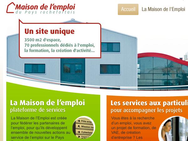 site web maisons de l'emploi-mde-illustration avec mde rochefort