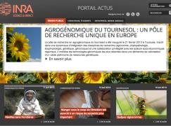 Copie écran page accueil site inra